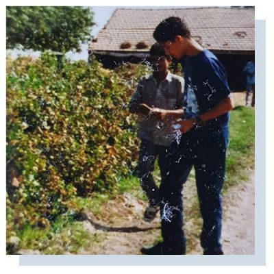 Our founder, Amar, picking cotton aged 14.